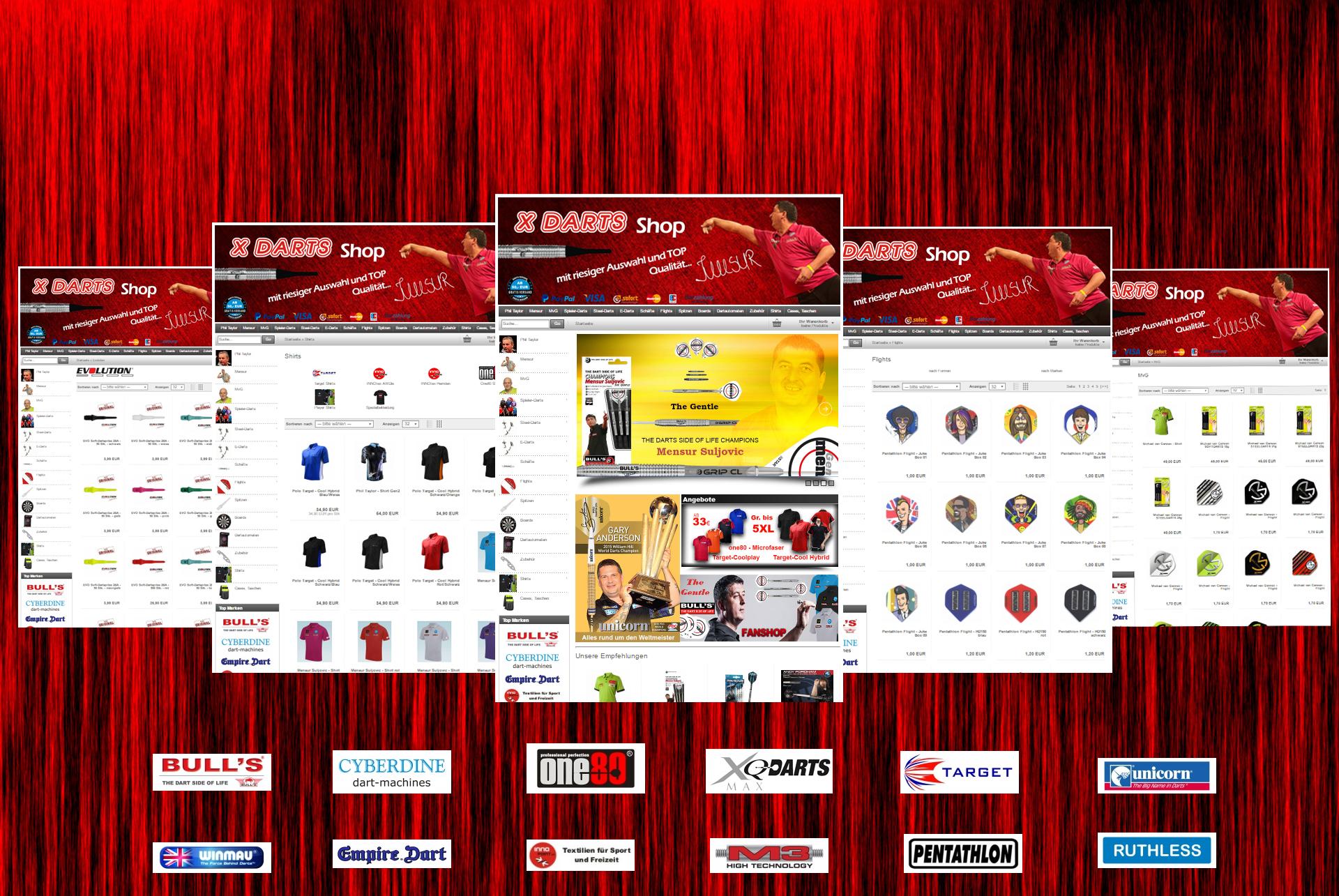 Alles rund um Darts - Der innovative neue Online Shop - in Kürze ONLINE!